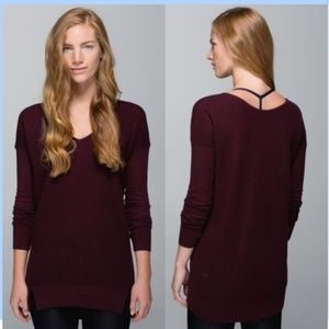 Lululemon The Sweater Life Heathered Bordeaux